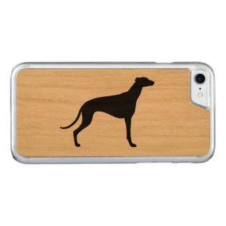 Greyhound Silhouette Carved iPhone 8/7 Case