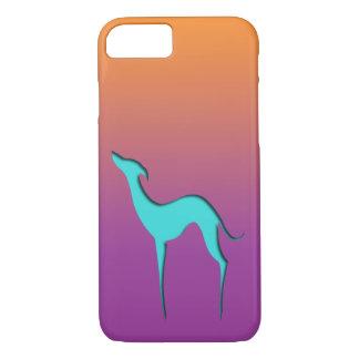 Greyhound/Whippet blue orange violet iPhone 7 case