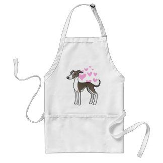 Greyhound / Whippet / Italian Greyhound Love Standard Apron
