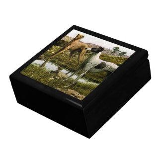Greyhounds Large Square Gift Box
