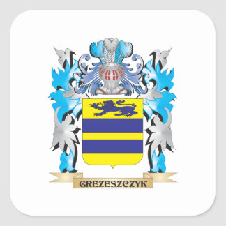 Grezeszczyk Coat of Arms - Family Crest Square Sticker