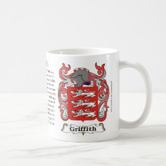 Griffith Family Coat of Arms Mug