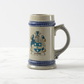 Griffith Family Crest Beer Stein
