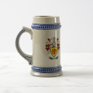 Griffiths Family Crest Coat of Arms Beer Stein