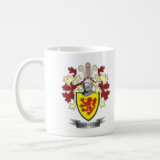 Griffiths Family Crest Coat of Arms Coffee Mug