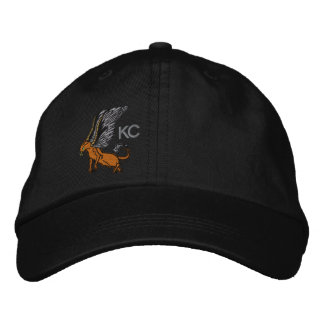 Griffon hat embroidered hats