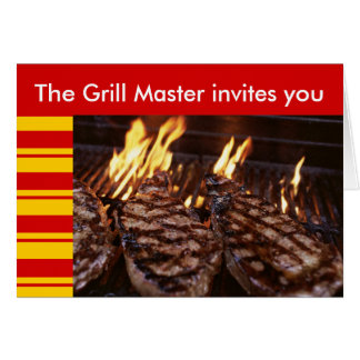 Grill Master Tiki Barbeque Party invitation