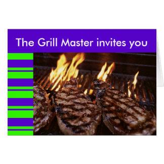 Grill Master Tiki Party Barbeque invitation