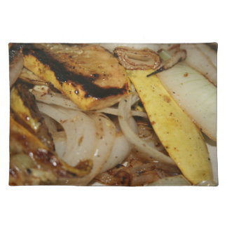 Grilled onions and squash food placemat