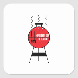 Grillin' On The Barbie Stickers