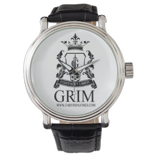 Grim for Him Leather Strap Watch