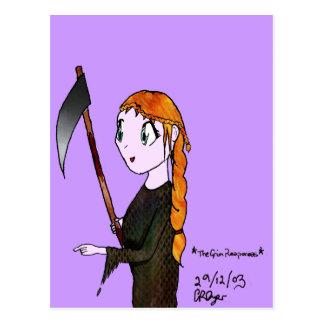 Grim Reaperess Postcards