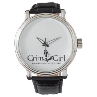 GrimGirl Black Leather Watch