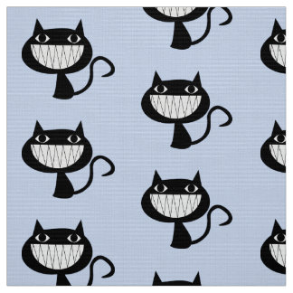 "GRINNING CAT PATTERN Polyester Weave (58"" width) Fabric"