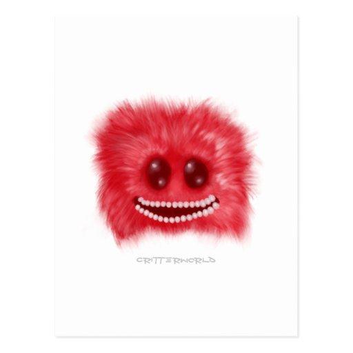 Grinning Fluffball Critter Postcards