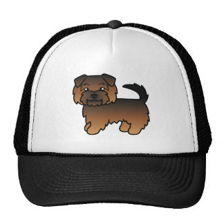Grizzle Norfolk Terrier Cartoon Dog Cap