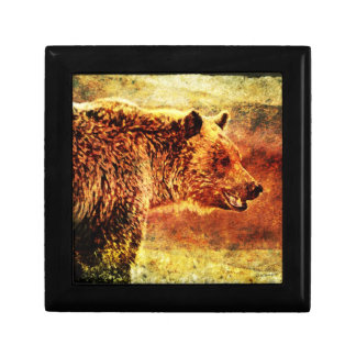 Grizzly Bear Art Jewelry Gift Box Design