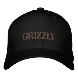 GRIZZLY BEAR EMBROIDERED HATS