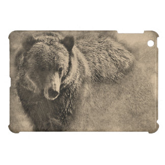 Grizzly BEar Illustration iPad Case