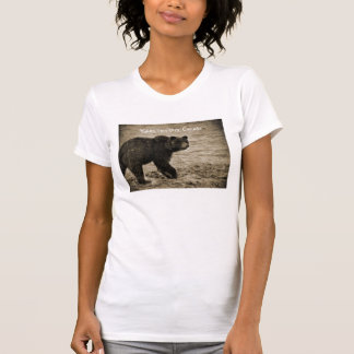 Grizzly Bear in Antique T-Shirt