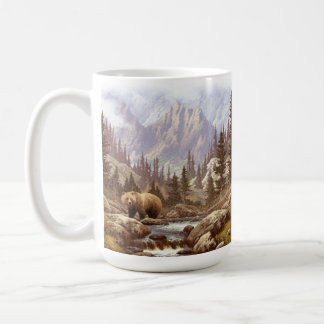Grizzly Bear Landscape 15 oz Mug