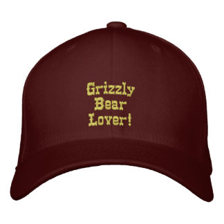 GRIZZLY BEAR LOVER Embroidered Cap