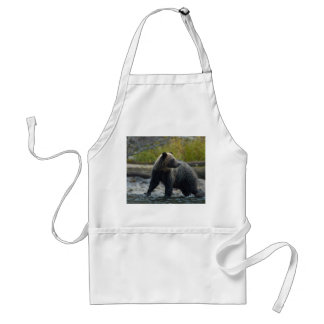 Grizzly Bear on the Babine River BC Standard Apron