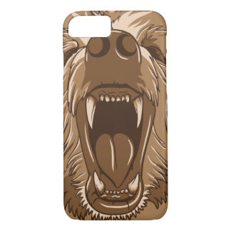 Grizzly Bear Roaring Open Mouth iPhone 7 Case