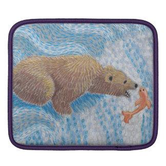 Grizzly Bear Waterfall iPad Sleeve
