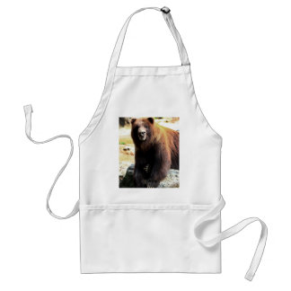 Grizzly Brown Bear Wildlife Photo Standard Apron