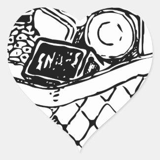 Grocery Basket Heart Sticker