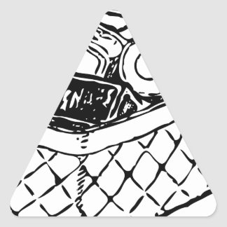 Grocery Basket Triangle Sticker