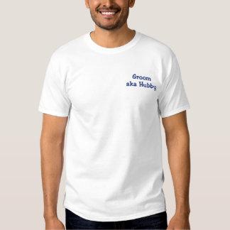 Groom aka Hubby Embroidered T-Shirt