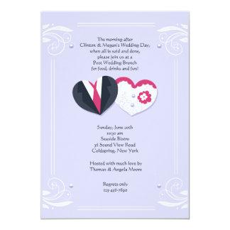 Groom and Bride Hearts Invitation