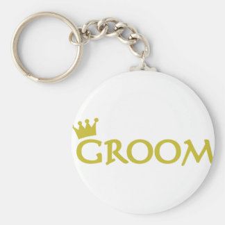 groom basic round button key ring