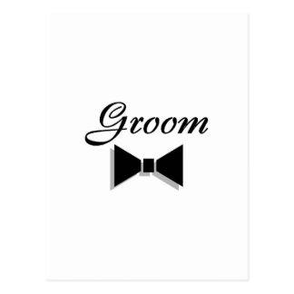 Groom Bowtie Post Card