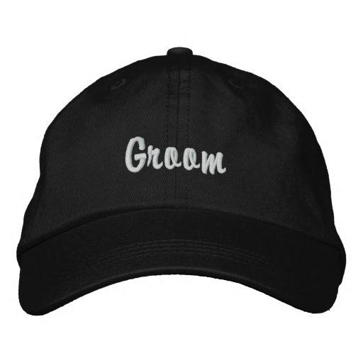"""Groom"" Embroidered Hat"