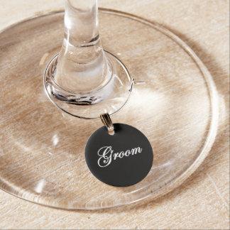 """Groom"" Wine Charm"