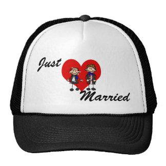Grooms on a heart trucker hat