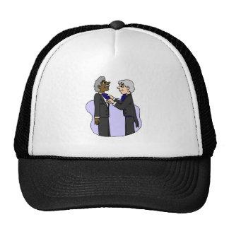 Grooms preparing for wedding Old Interracial Cap