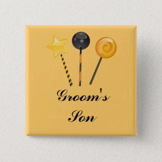 """Groom's Son"" - Halloween Lollipops 15 Cm Square Badge"