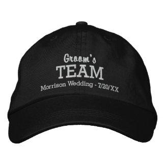 Groom's Team Custom Wedding Baseball Hat Name Date Embroidered Hats