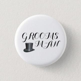 Groomsman Custom Wedding  Pin back Buttons Badges