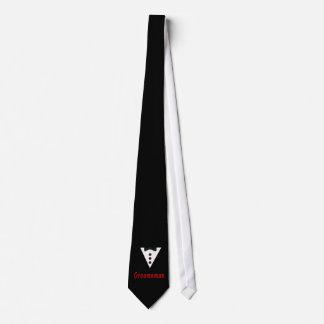 Groomsman In Tux Tie