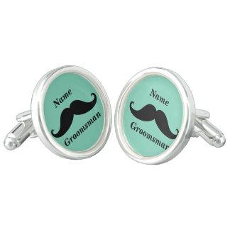 Groomsman Mustache Cufflinks