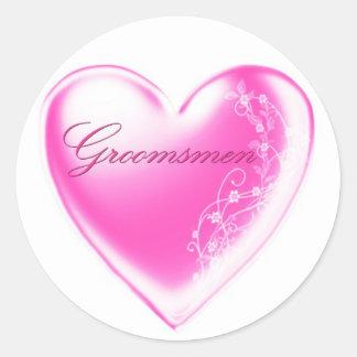 Groomsmen Classic Round Sticker