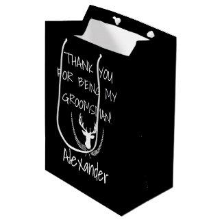 Groomsmen Personalized Wedding Thank You Medium Gift Bag