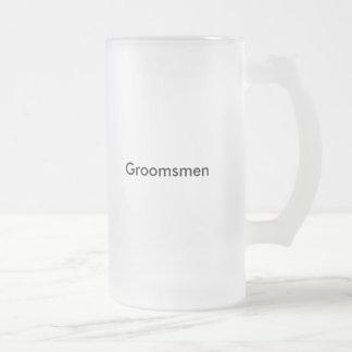 Groomsmen stein frosted beer mug