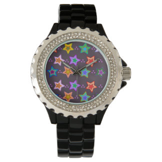 Groovy Colorful Stars Watch