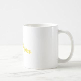 Groovy Happy Humanist Gold Basic White Mug